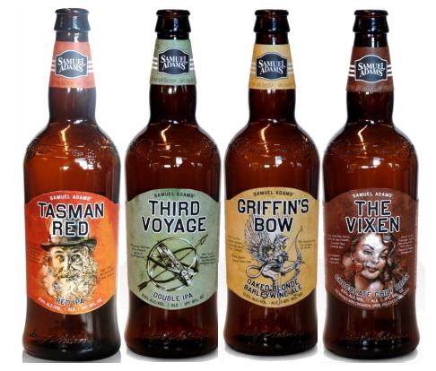 Sam Adams lineup of 4 small batch brews